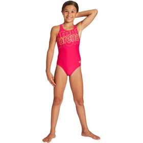 arena Spotlight Pro Back One Piece Swimsuit Girls freak rose/soft green
